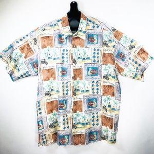 Harley Davidson Tori Richard Hawaiian Shirt Large